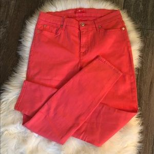 7 For All Mankind Coral Straight-Leg Jeans Sz 30